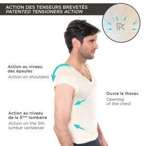 test mal dos correcteur posture percko homme